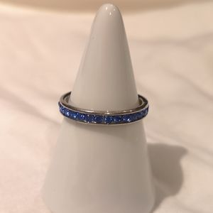 Ring with blue gems